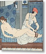 Tying The Legs Together Metal Print by Joseph Kuhn-Regnier