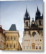 Tyn Church In Prague Metal Print