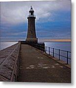 Tynemouth Pier Lighthouse Metal Print