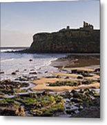 Tynemouth Priory And Castle Across King Edwards Bay Metal Print