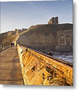 Tynemouth Priory And Castle From North Pier Metal Print