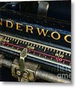 Typewriter Paper Guide Metal Print