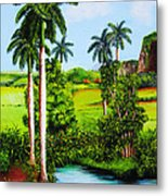 Typical Country Cuban Landscape Metal Print