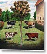Typical Cows  Metal Print