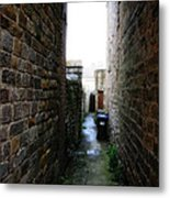 Typical English Back Alley Metal Print