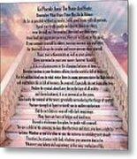 Typography Art Desiderata Poem On Stairway To Heaven Metal Print