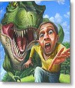 Tyrannosaurus Rex Jurassic Park Dinosaur - T Rex - Paleoart- Fantasy - Extinct Predator Metal Print