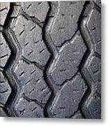 Tyre Tread Metal Print