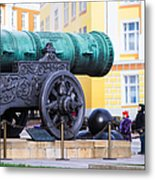 Tzar Cannon Of Moscow Kremlin - Square Metal Print