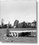 U. S. Air Force Glider That Landed Metal Print