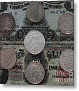 U S History Of Silver Dollars Metal Print