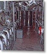 U S S Bowfin Submarine Engine Room Metal Print