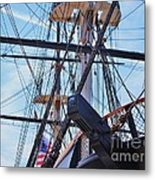 An Aspect Of The U S S Constellation, Baltimore Metal Print