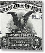 U. S. Silver Certificate 1899 Metal Print