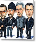 U2 Metal Print by Art
