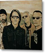 U2 Silver And Gold Metal Print