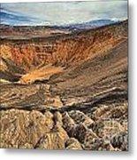Ubehebe Crater Metal Print