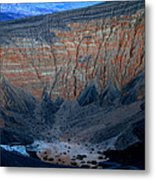 Ubehebe Crater Twilight Death Valley National Park Metal Print