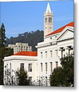 Uc Berkeley . Sproul Plaza . Sproul Hall .  Sather Tower Campanile . 7d10008 Metal Print