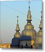 Ucraina..chiesa Metal Print by Halina Nechyporuk