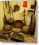 Udaipur City Palace Rajasthan India Queens Kitchen-2 Metal Print