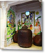 Udaipur City Palace Rajasthan India Queens Kitchen Metal Print