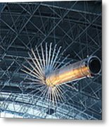 Udvar-hazy Center - Smithsonian National Air And Space Museum Annex - 121263 Metal Print by DC Photographer