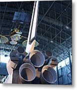 Udvar-hazy Center - Smithsonian National Air And Space Museum Annex - 121269 Metal Print by DC Photographer