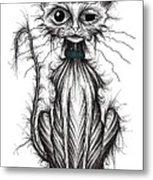 Ugly Cat Metal Print