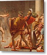 Ulysses Revenge On Penelopes Suitors Metal Print