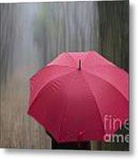 Umbrella And Blur Metal Print