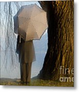 Umbrella And Tree Metal Print