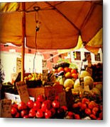 Umbrella Fruitstand - Autumn Bounty Metal Print