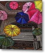 Umbrella Fun Metal Print