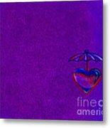 Umbrella Heart Metal Print