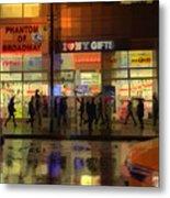 Umbrella Parade - New York In The Rain Metal Print