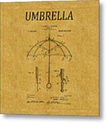 Umbrella Patent 1 Metal Print