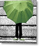 Umbrella Trio Metal Print