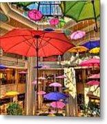 Umbrellas At Palazzo Shops Metal Print