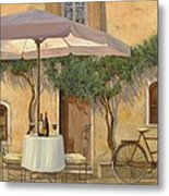 Un Ombra In Cortile Metal Print