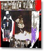 Uncle Sam Richard Nixon Mask Nuns Sitting Child Collage 2013 Metal Print