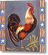 Uncle Sam The Rooster Metal Print