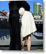 Unconditional Surrender Kiss Metal Print
