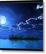 Under A Silvery Moon...artistic Effect Metal Print