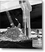 Under Pass Bw Iv Metal Print