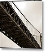 Under The Bay Bridge Metal Print