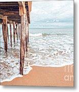 Under The Boardwalk Salsibury Beach Metal Print
