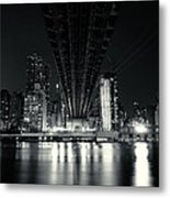 Under The Bridge - New York City Skyline And 59th Street Bridge Metal Print