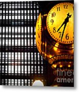 Under The Famous Clock Metal Print