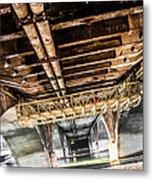 Under The Golden Bridge Metal Print